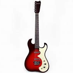Silvertone 1449RSFB Solid Body, Red Silver Flake Burst, Lipsticks